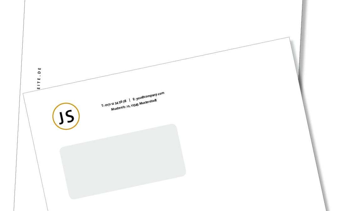 Aktion Briefbogen und Couvert in Kleinauflagen