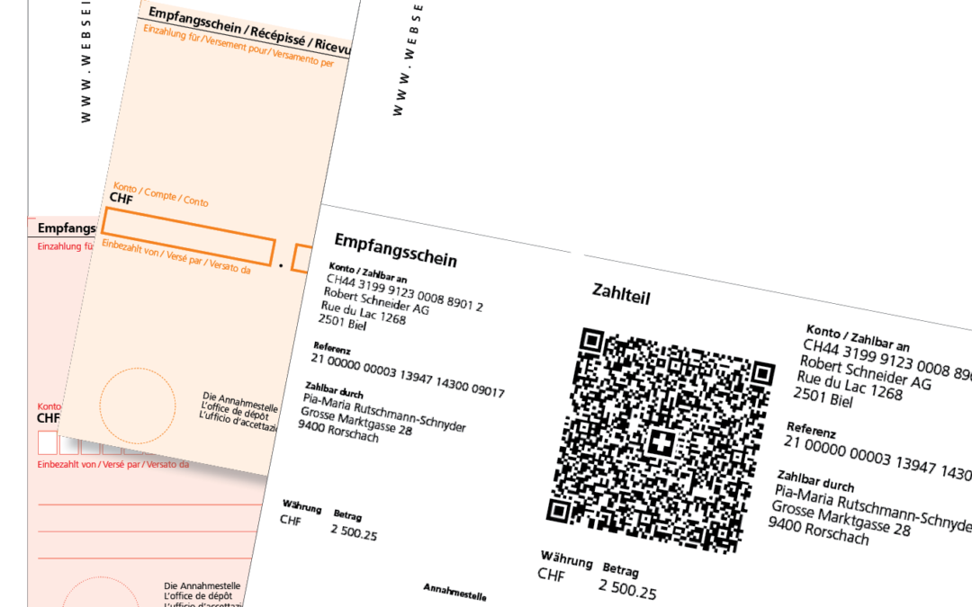 Aktion 20% Mehrauflage für QR-, ESR- und EZ-Formulare