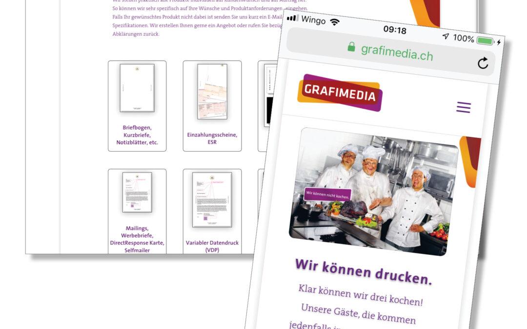 Webdesign von Grafimedia